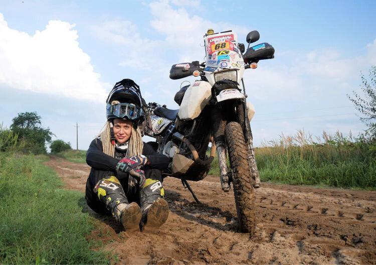 adv rider, girl on bike, female rider, Egle Gerulaitytė
